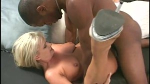 White babe on a black cock - Sin City
