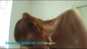 Czech redhead lapdances and do
