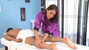 Gorgeous Brunette Amiee Cambridge Massage and Blowjob