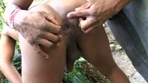 Latin Hunk Fucking In The Forest