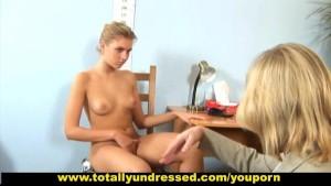 Hot babe passing through tough nude job interview