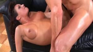 Busty brunette having good anal sex