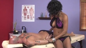 Big Tits Ebony Massage 69 and Cumshot