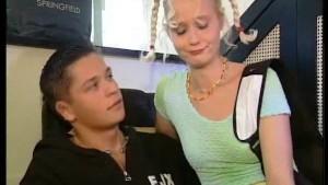 Blonde takes Euro anal gangban