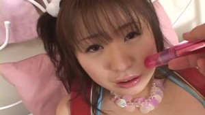 Lovely Japanese honey takes on a hard dick