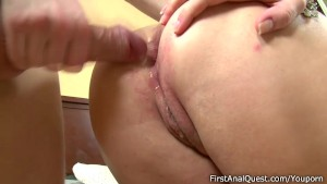 Big tits girl wanna feel cum in her ass first itme.