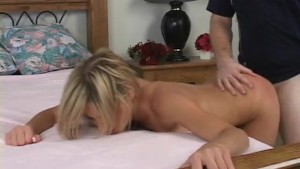 Cute blonde fucks for the firs