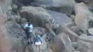 Lovers on Rocky Beach Spy