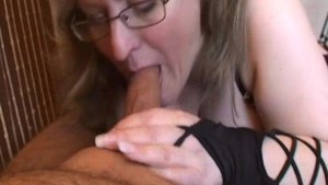 Busty amateur wife handjob and