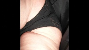 British hairy milf lifts her skirt and shows her tight panties