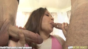 Asian Teen Kita Zan Fucks a Fa