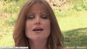 Sexy Redhead MILF Fucked Outdoors