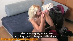 FakeAgent HD Mature blonde does anal in casting