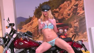 Blonde Biker Babe - Julia Reaves