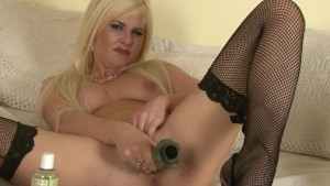 Hot Blonde goes solo with her dildo on cam