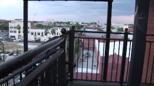 Hot girl flashes on a rooftop - DreamGirls