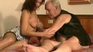 Old playboy fucks fresh pussy