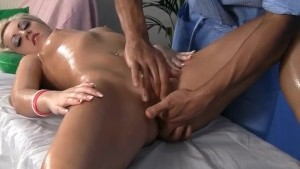 Hard squirting and blowjob blonde with a massage