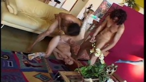 Gorgeous Curvy Ginger Fucked By Two Cocks - X-Worx