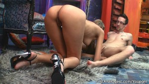 Lusty chick gave up her anal v
