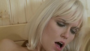 blonde babes get wild and hot in the sauna - Playvision