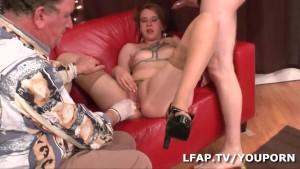 Fisting et sexe anal pour cette rouquine francaise
