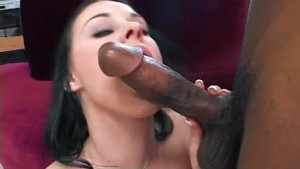 Pale white chick takes a BBC -