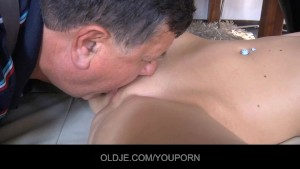 Young spoiled girl fixed up by an oldman porn fitter