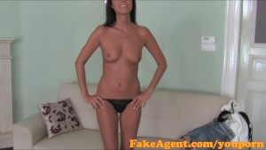 FakeAgent HD Classy brunette tricked into sex