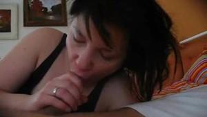 Amateur girlfriend blowjob wit