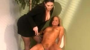 Female Boss Spanks Her Secretary