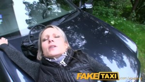 FakeTaxi Hot milfs in over the bonnet sex