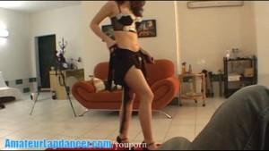 Cute and shy czech brunette lapdances