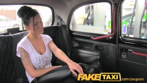 FakeTaxi Busty brunette in anal creampie