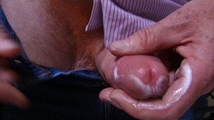Orgasmus - Orgasm 44th - I wank with my natural lube (precum) until I cum