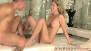 MOM Skinny MILF fucks her man