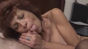 Milf gets naked with a small c