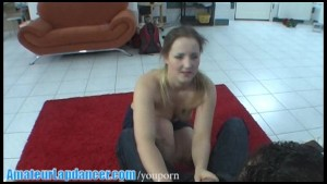 Natural czech chick does amazing lapdance