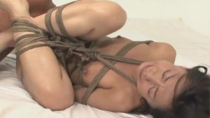 Japanese babe tied and deeply