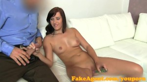 FakeAgent I cum inside fertile young babe for her first creampie
