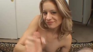 Petite blonde gets her pussy drilled by a small cock