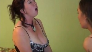 Lucky Guy Fucking Two Brunettes In The Bedroom