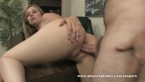 Hot Slut Fucks Old Boss To Secure The Job