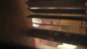 Spying on a milf through bathroom window