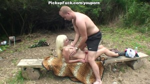 blonde fucked by the river