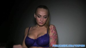 PublicAgent Tattooed blonde model take cash for sex