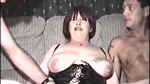 Homemade film with mature woma