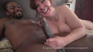 Cougar Does First Interracial BJ