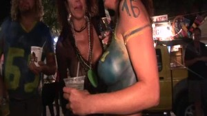 After Midnight on the Streets of Fantasy Fest 2012 Key West Florida