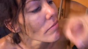 Beautiful brunette MILF Nancy